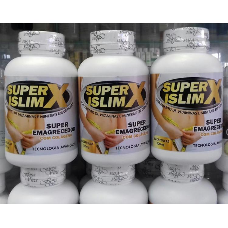 Super ISlimX emagrecedor 500 mg kit 3 frascos c/60 capsulas